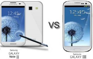 مقايسه فني Samsung Galaxy Note II vs Galaxy S III