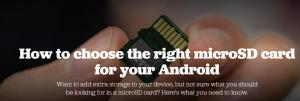 انتخاب کار حافظه برای دستگاه اندرویدی